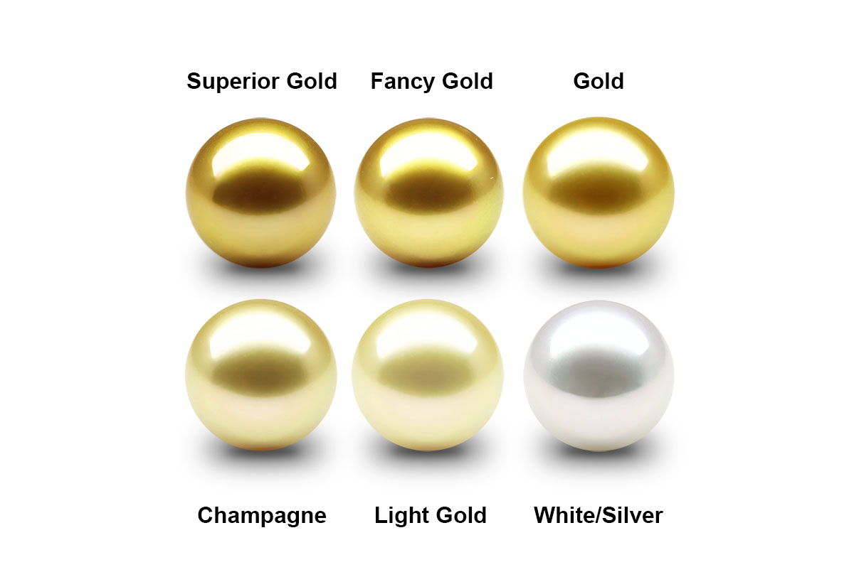 South Sea Pearl Color Chart