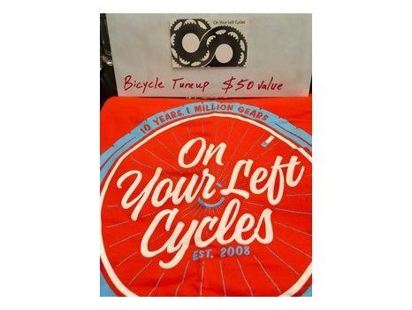 On Your Left Bike Tune Up & Tshirt