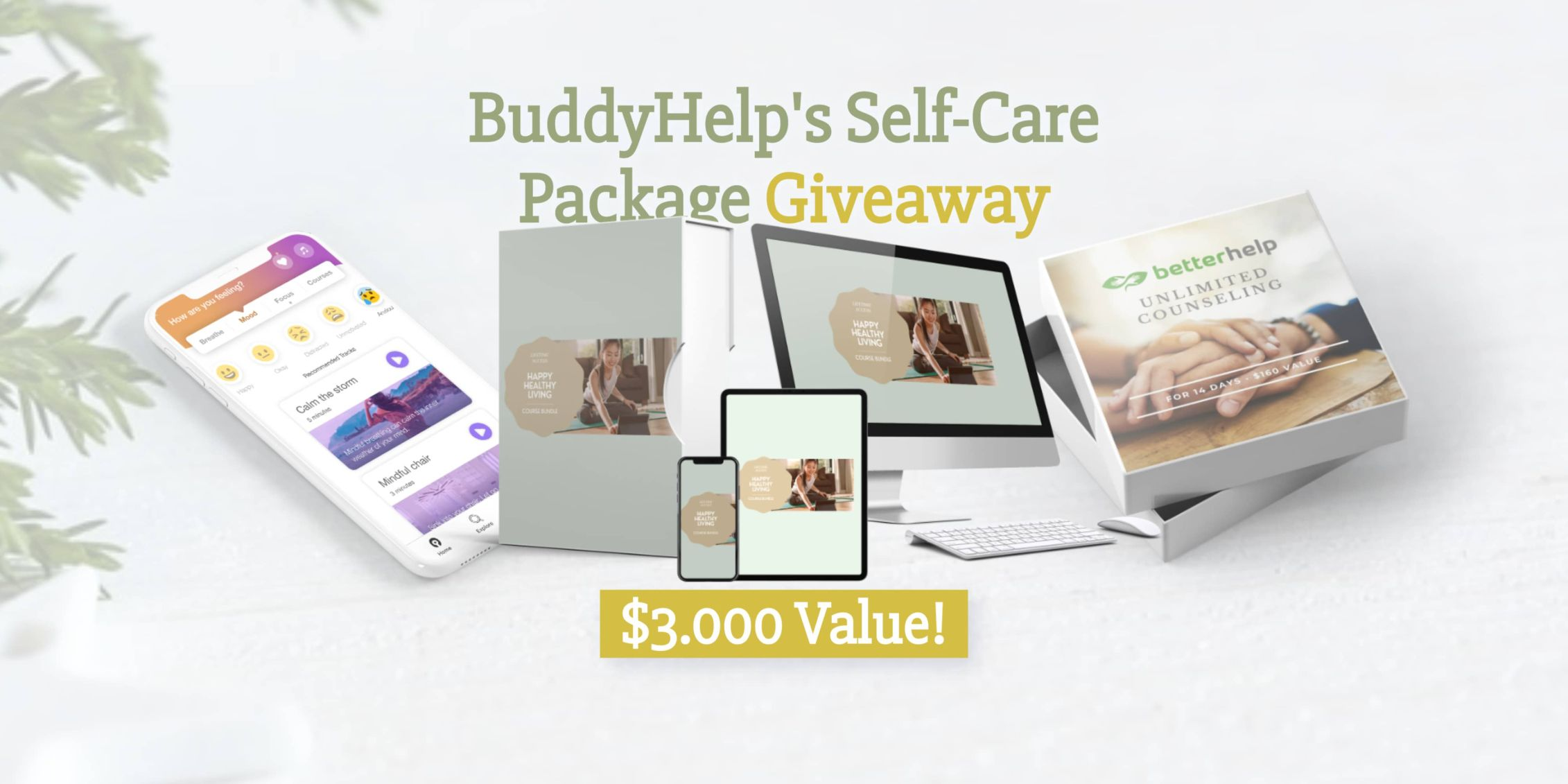 Buddyhelp self-care package giveaway