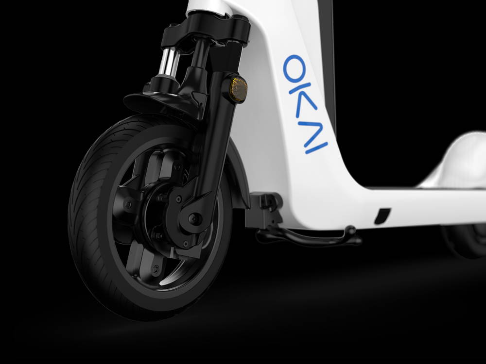 Okai-es200-electric-scooter-folded-scooter
