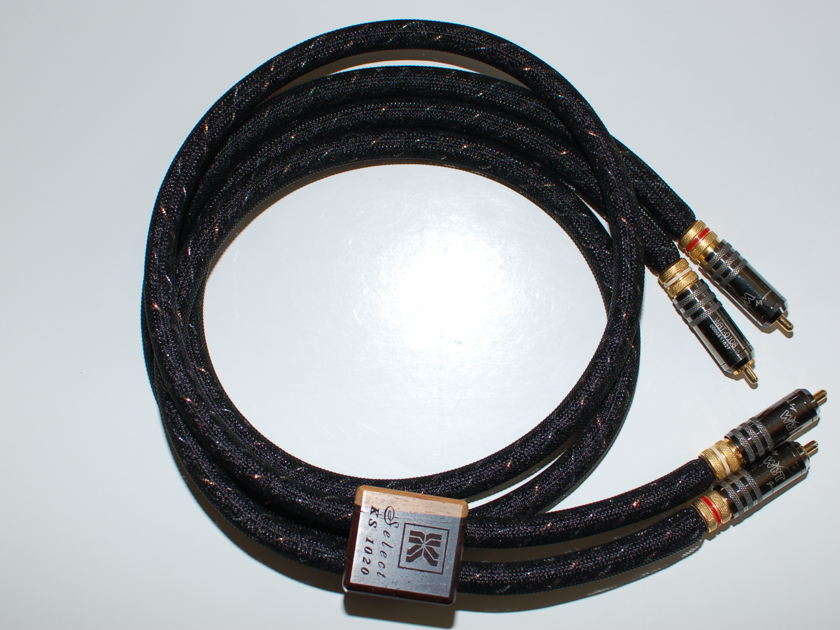 Kimber Kable Select KS-1020 RCA's 1M pair interconnect- Excellent condition-Free shipping