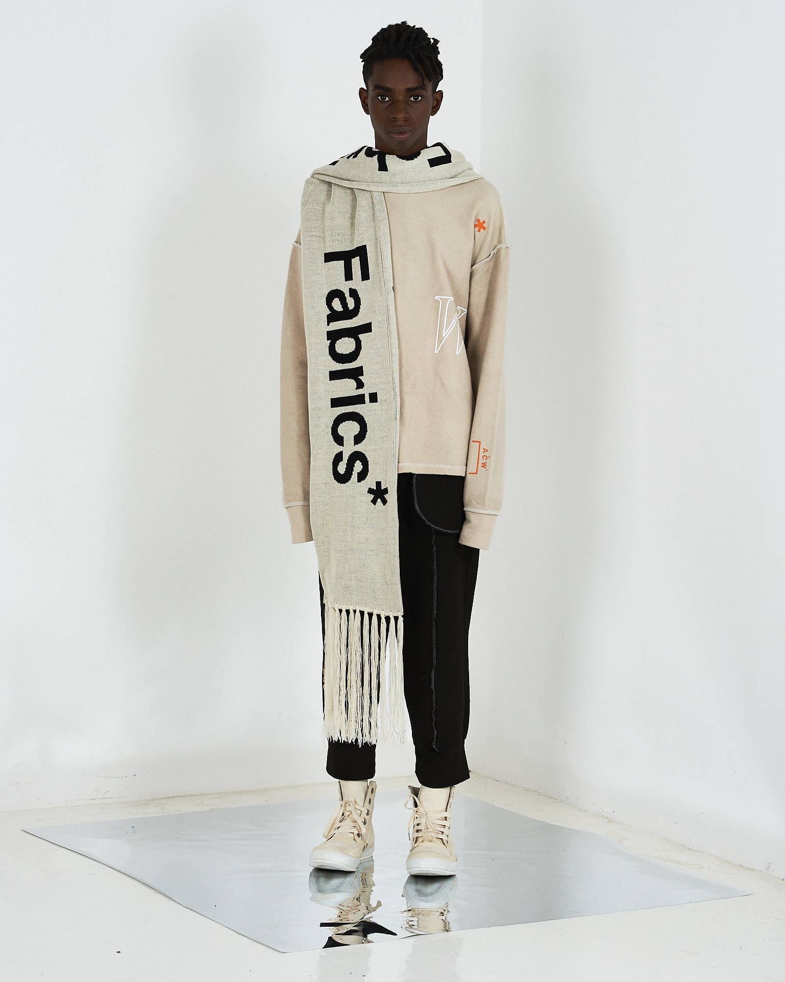 a cold wall samuel ross scarf h lorenzo fw17