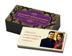 Return Gifts for Wedding - Couple Photo White (10 Box)