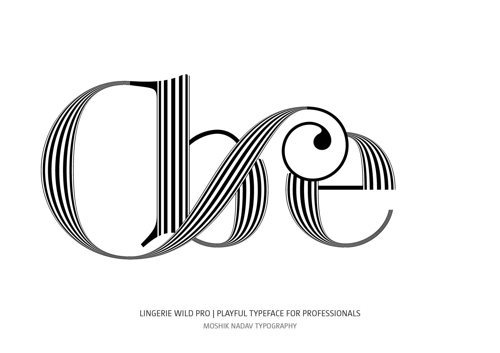 cool ligatures for fashion brands and fashion magazines by Moshik Nadav Typography