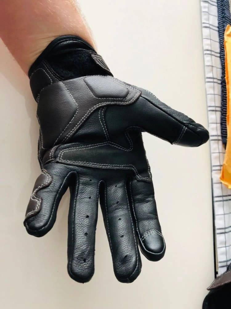 gants trottinette cuir vintage equipement