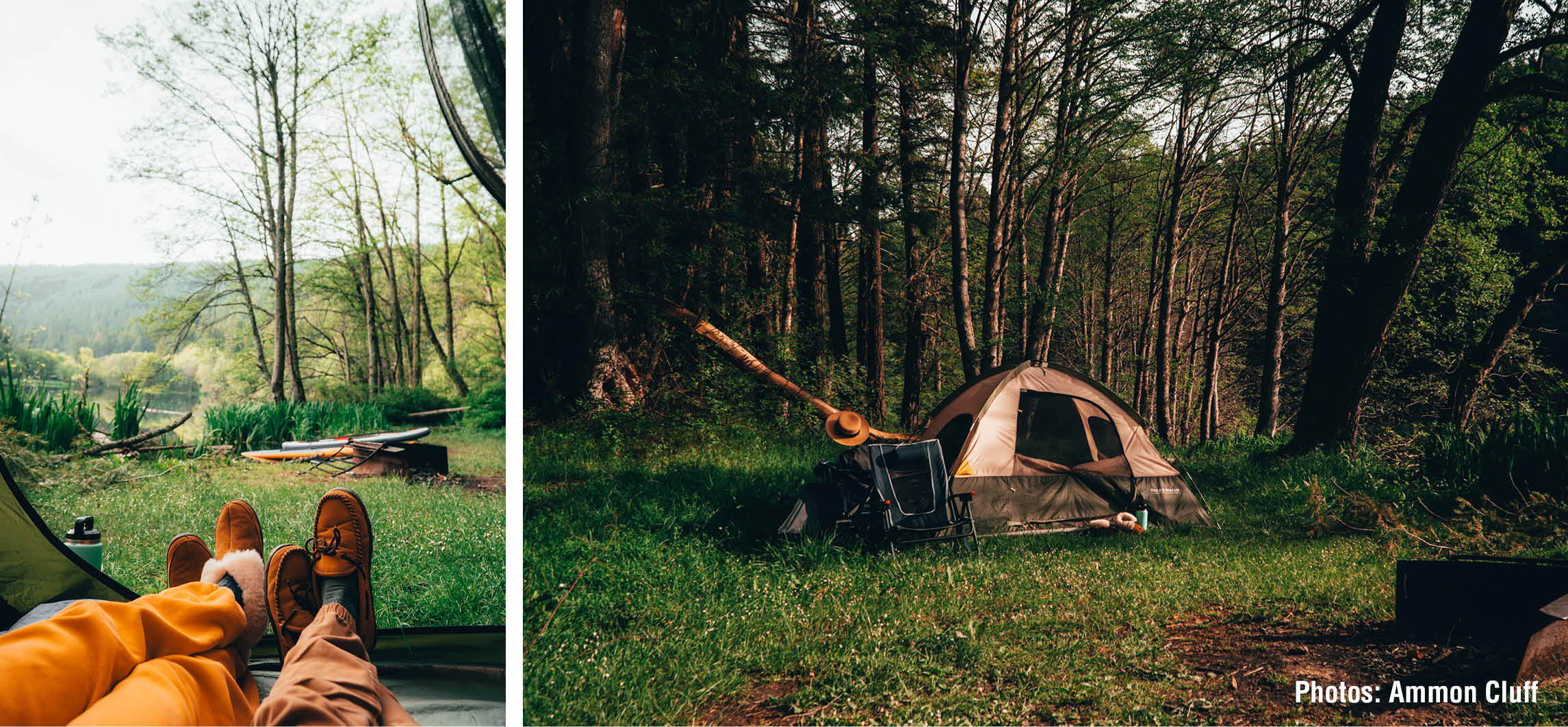 2 images camping