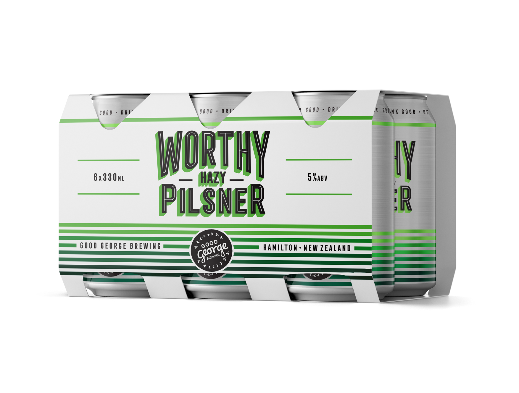 Good George Worthy Hazy Pilsner Six Pack Cans