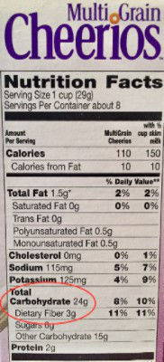 Multi-Grain Cheerios Nutrition Facts