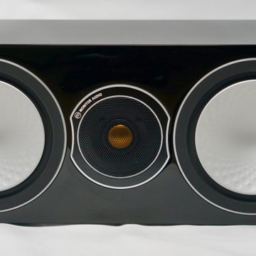 Silver Centre Channel Speaker in Gloss Black