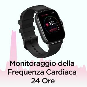 Amazfit GTS 2e - Monitoraggio della Frequenza Cardiaca 24 Ore.