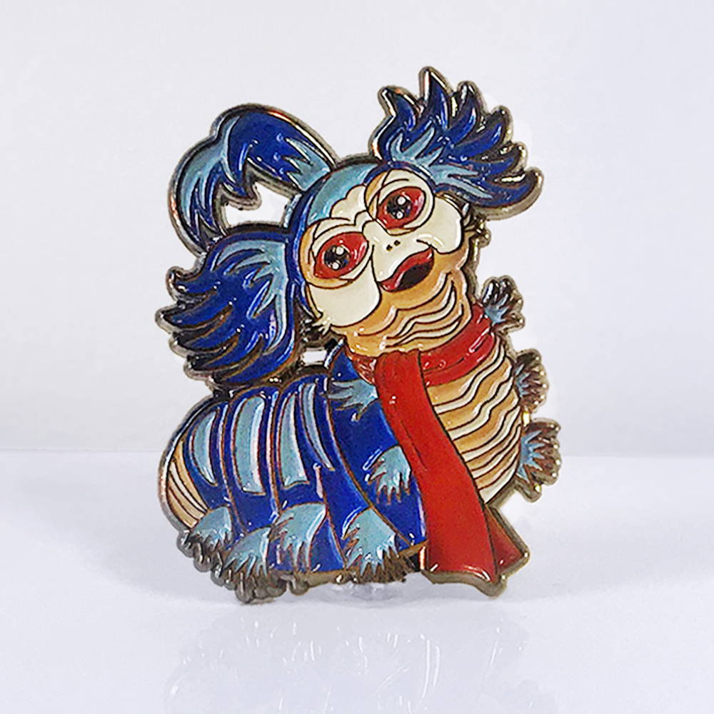 Labyrinth Worm Pin