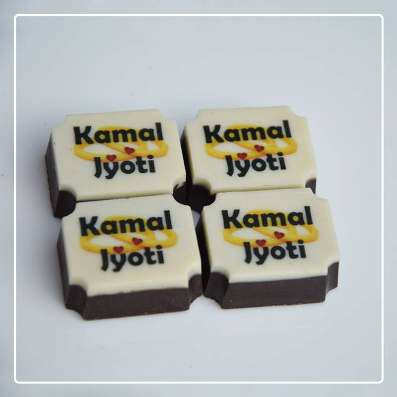 Chocolates with names of couple