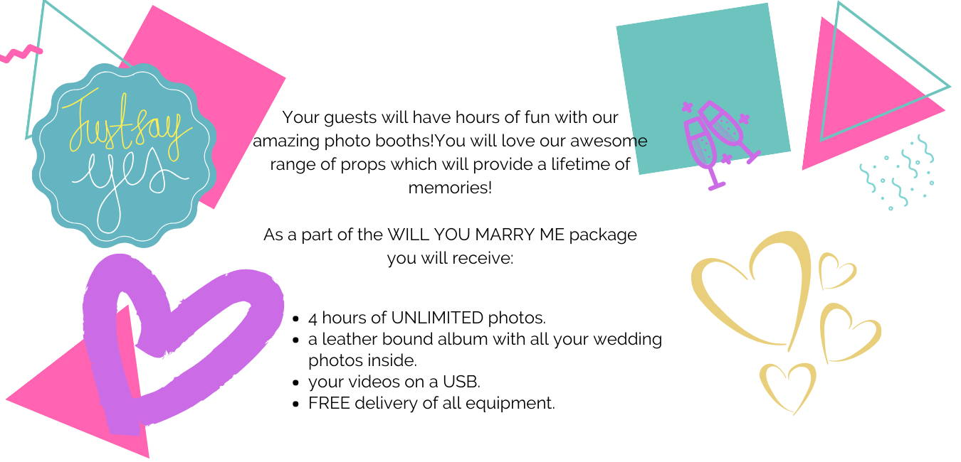 Description of photo booth wedding packages