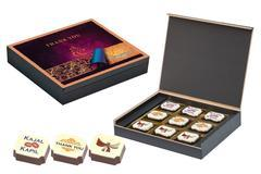 Return Gifts for Wedding - 9 Chocolate Box - Printed Candies (10 Boxes)