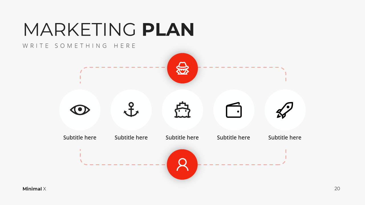 Minimal X Presentation Template Business Plan Marketing Plan