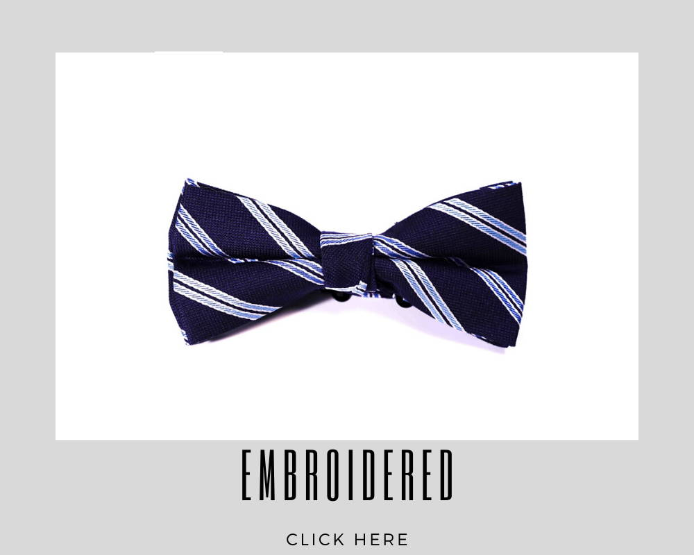 Custom Embroidered Bow Tie