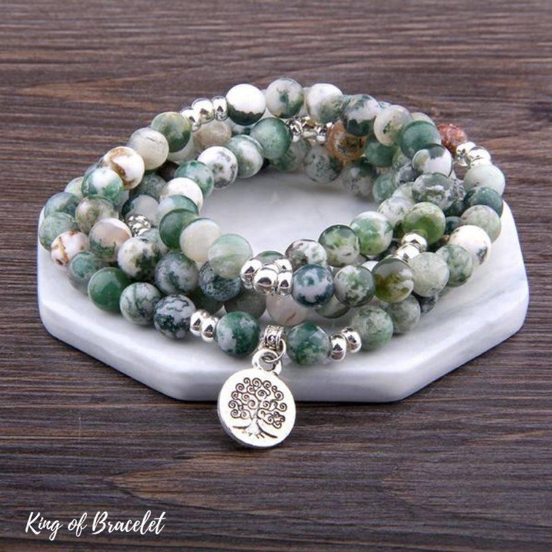 Bracelet de Lithothérapie en Agate Arbre - King of Bracelet