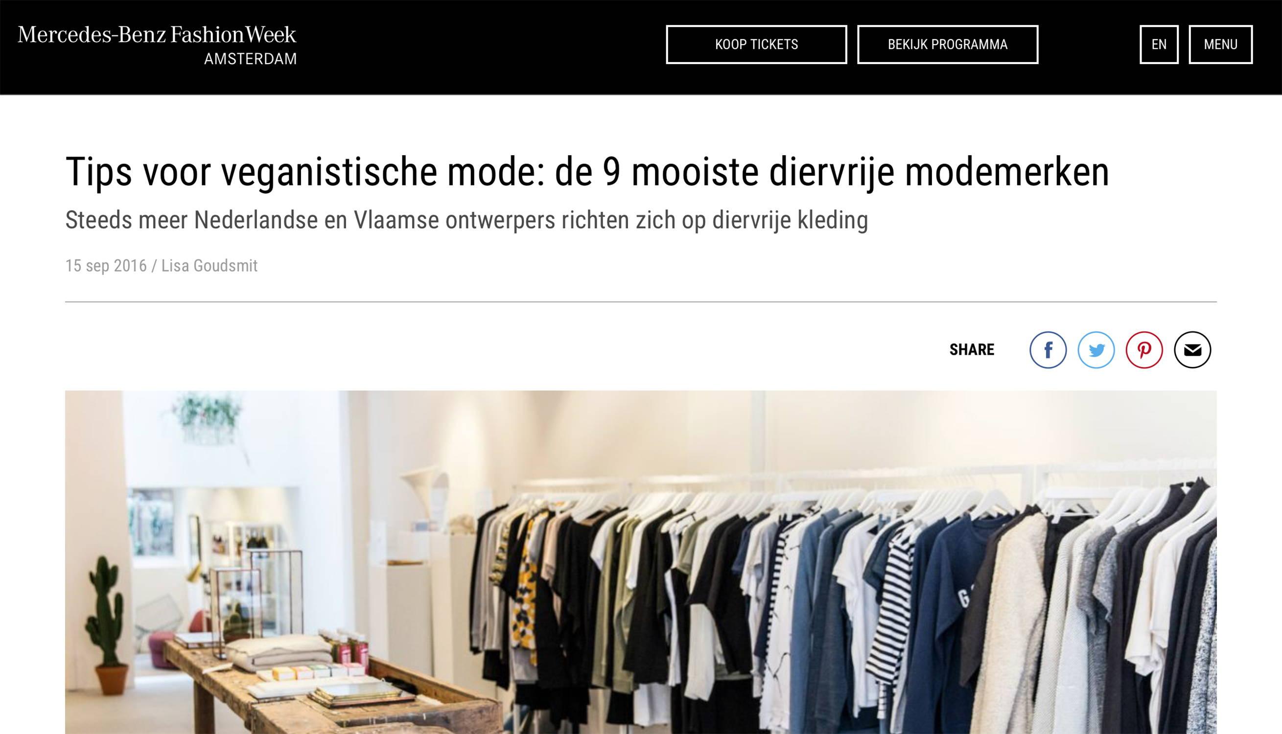 fashion week nederland noumenon vegan fashion