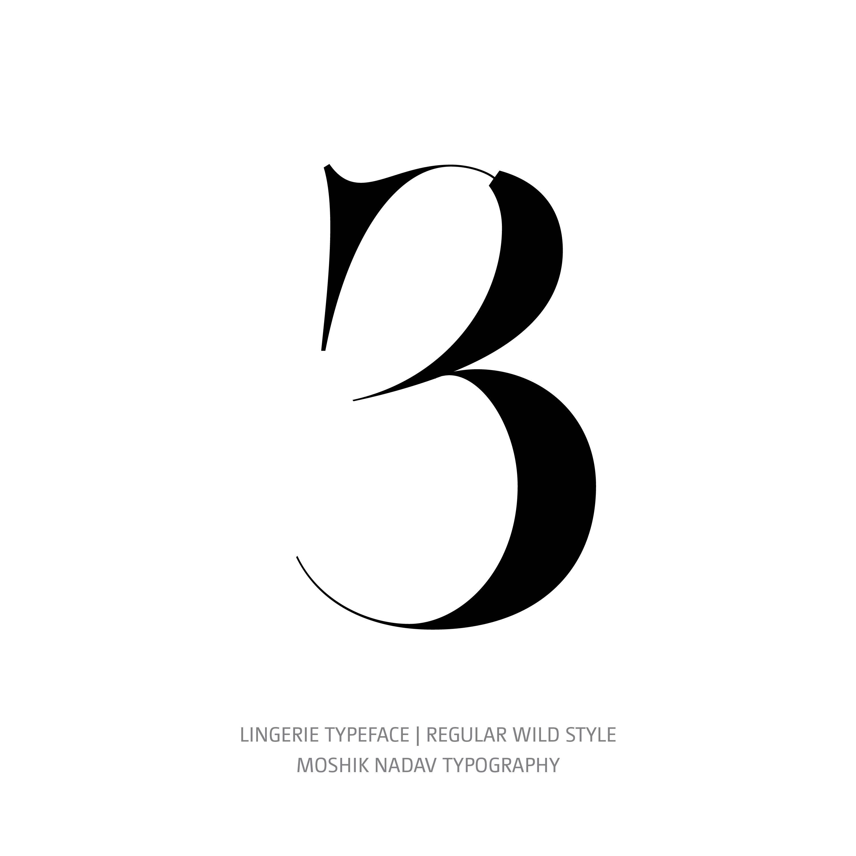 Lingerie Typeface Regular Wild 3