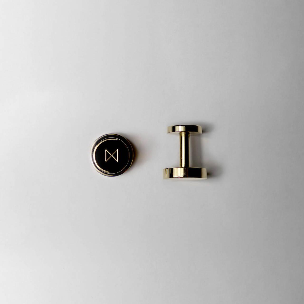 Polished Brass Cufflinks