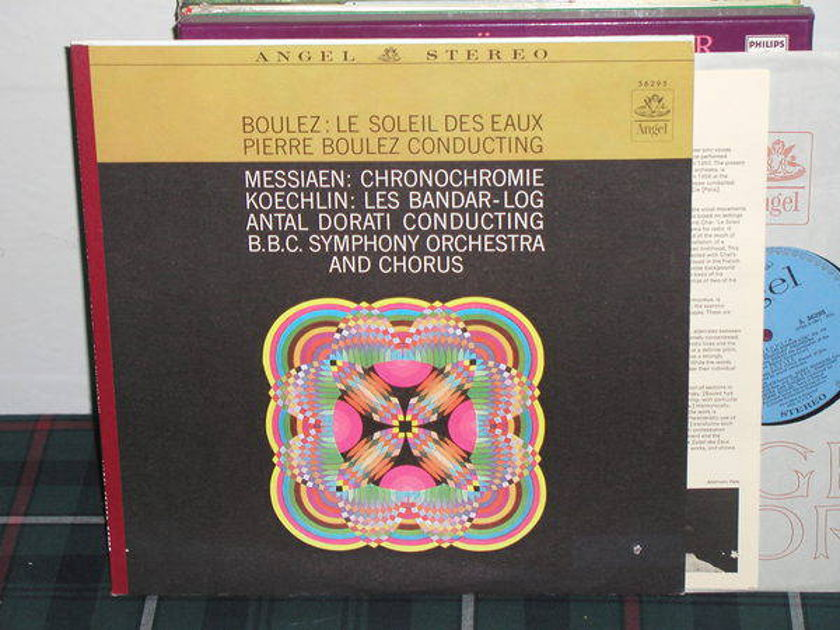 Dorati/BBCSO&C - Boulez/Messiaen Blue/Silver Angel LP from 60's.