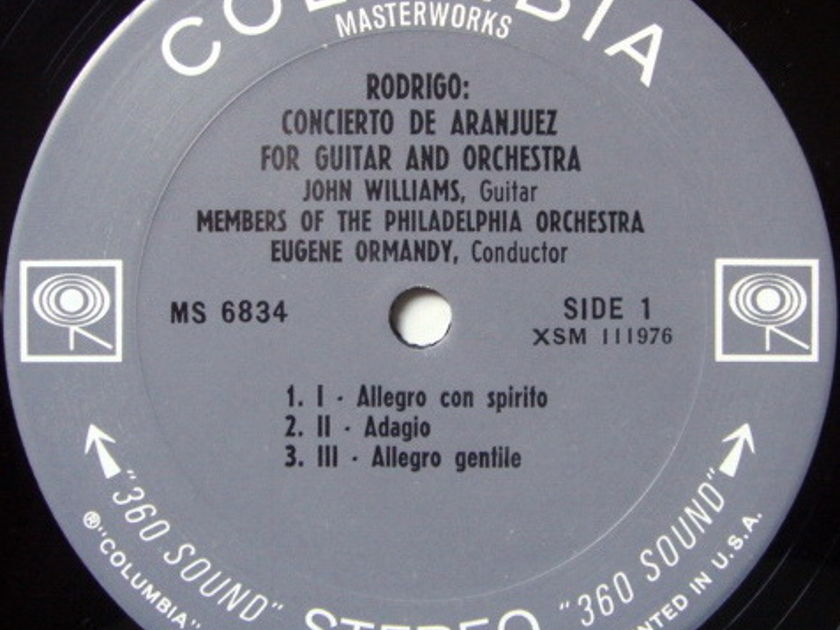 Columbia 2-EYE / JOHN WILLIAMS-ORMANDY, - Rodrigo Concerto de Aranjuez, MINT!