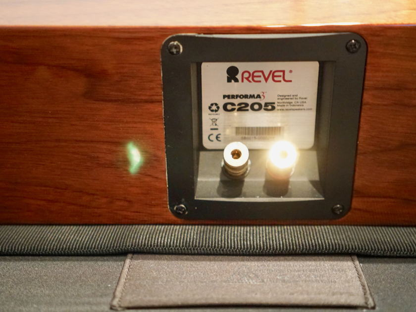 Revel C205 Performa3 Center Channel Speaker(walnut) W/  Revel CSTAND(Black) w/ Free Shipping