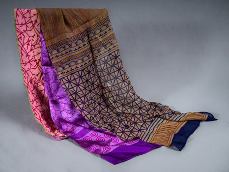Three Hand-Crafted Scarves by Harshita Designs