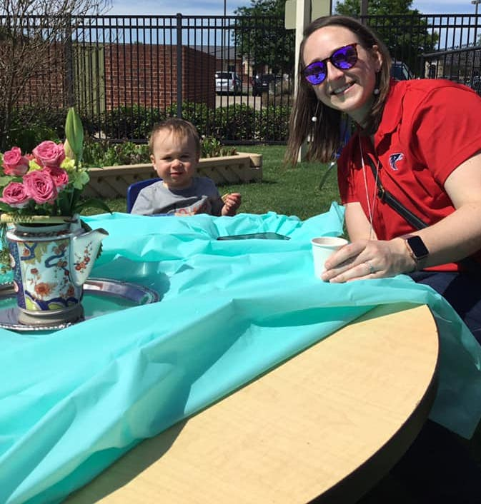 mother's day tea, mommy and me, child with mom at a tea party, Primrose School of Clear Lake, Houston, 77062