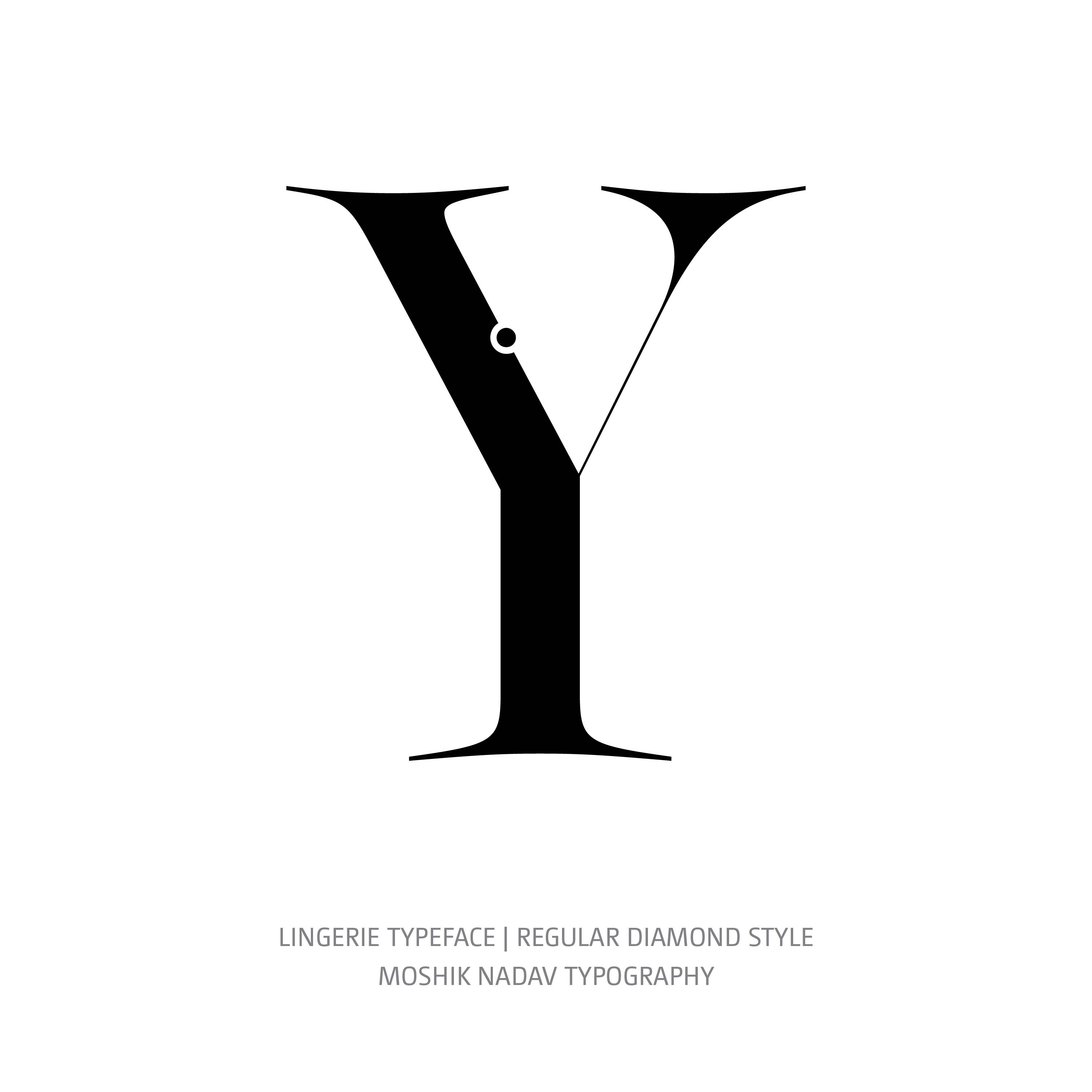 Lingerie Typeface Regular Diamond Y