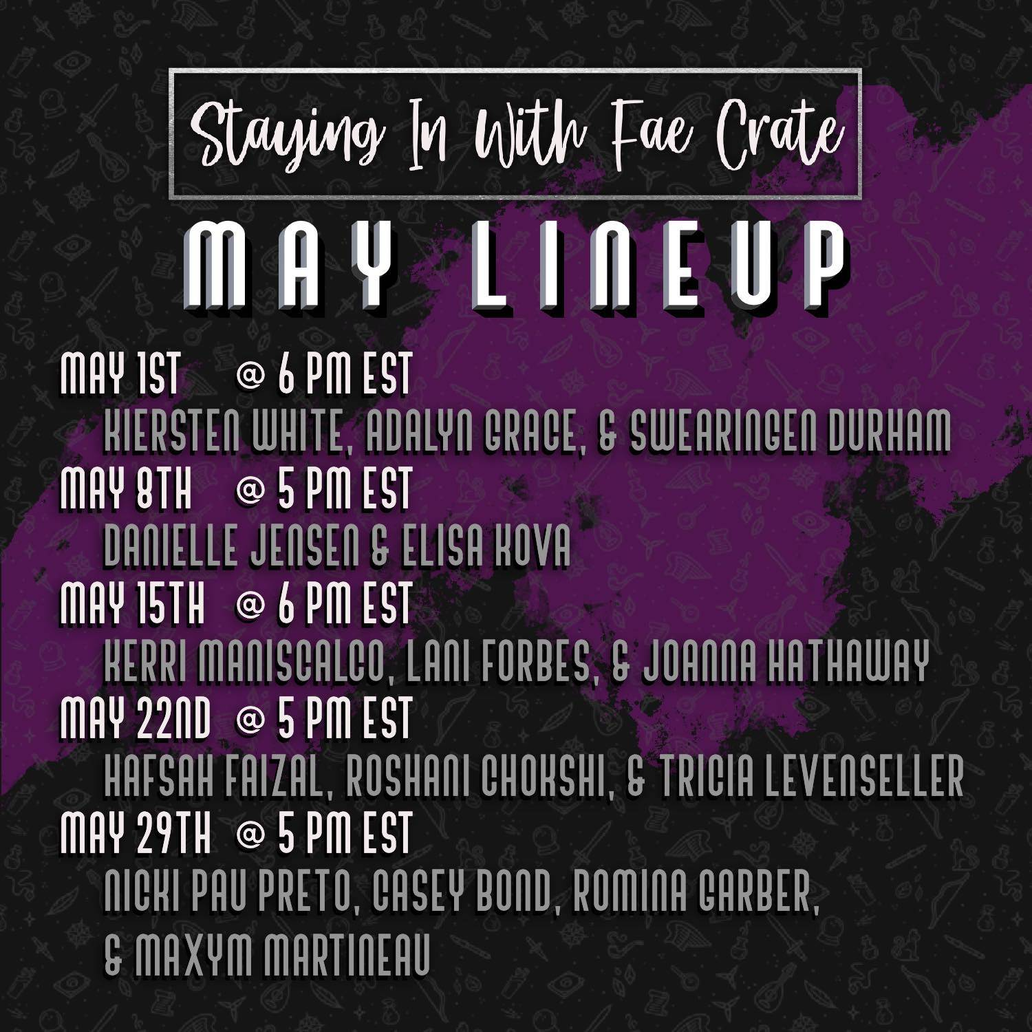 Stay in with Fae Crate May Lineup