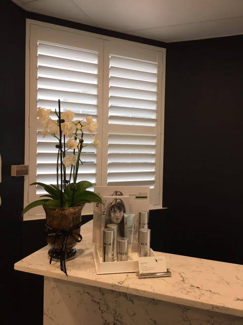 Reception area flower display at  our Australian Skin Clinic