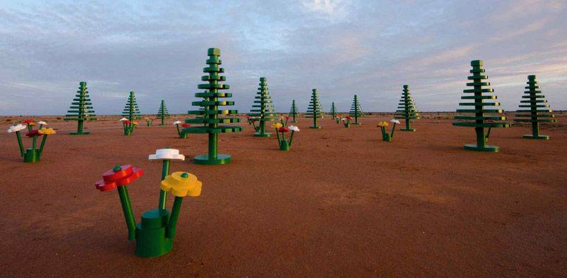 Life-size LEGO forest