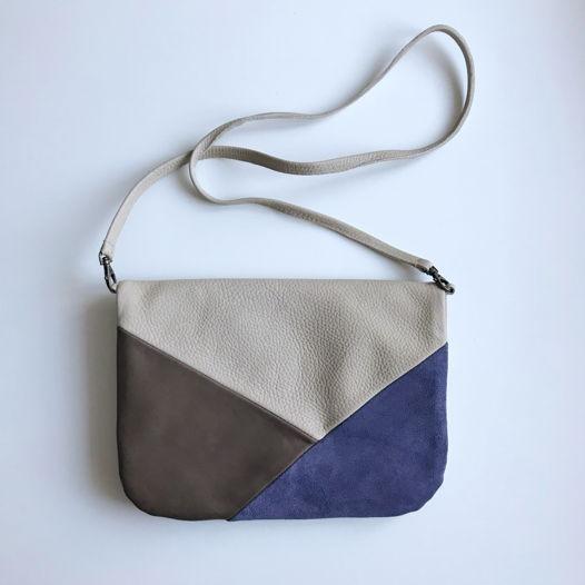 Замшевая сумка/ клатч Triangles Lavender