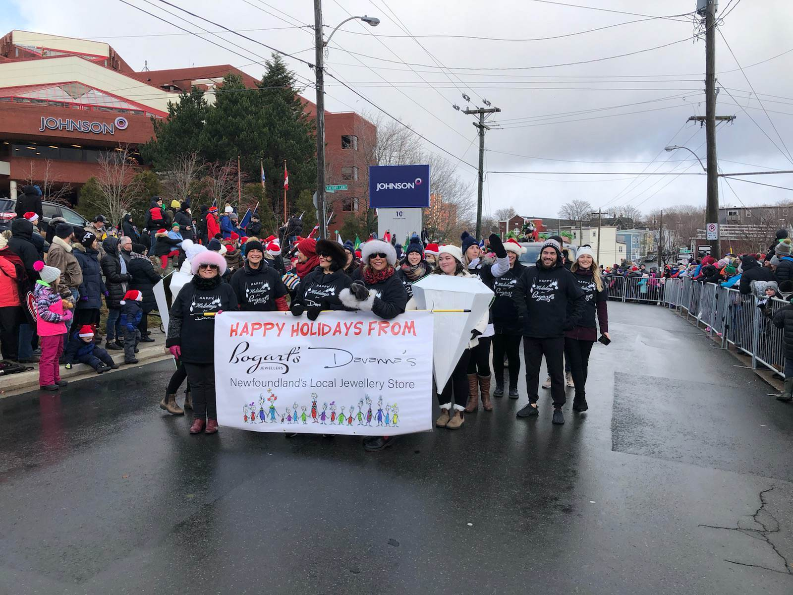 Bogart's Jewellers in the community Christmas parade