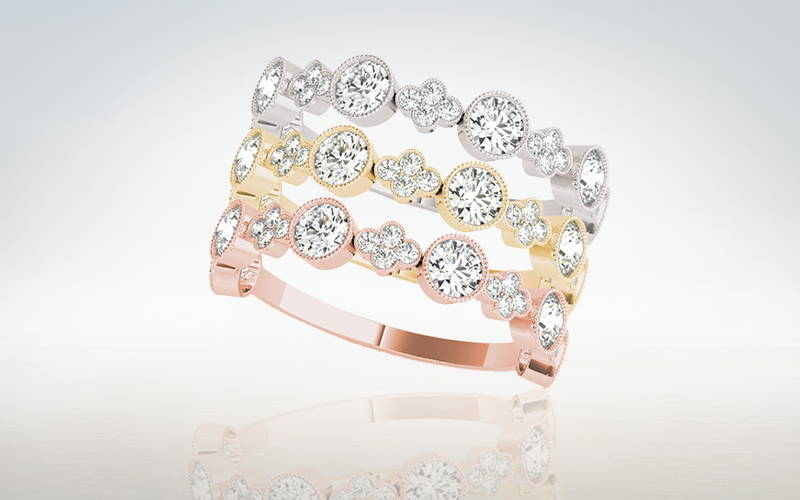 Stackable Lab Diamond Rings