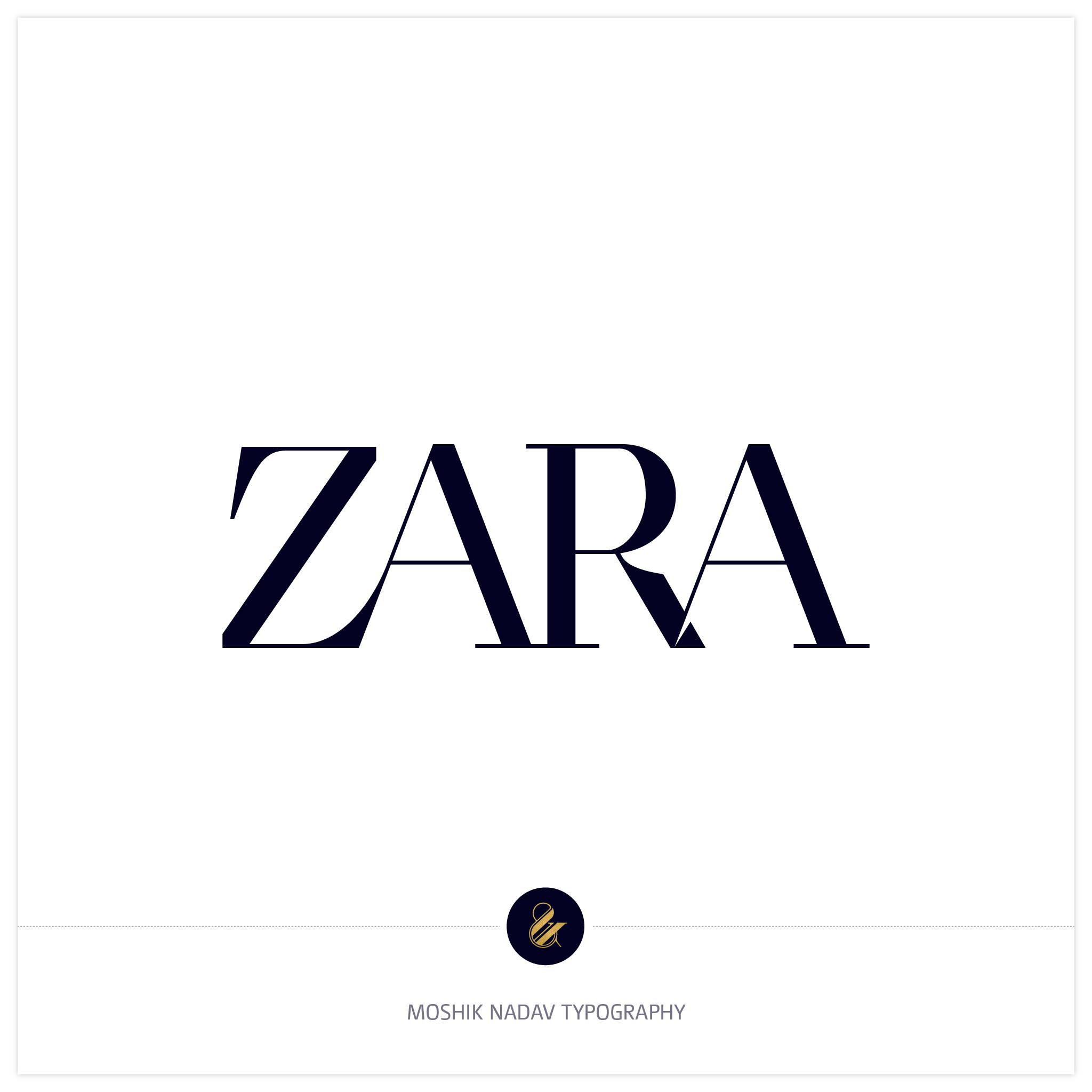 Moshik Nadav version for Zara new logo design