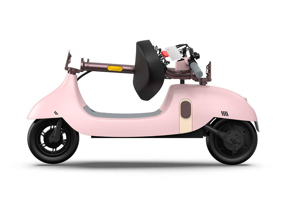 okai foldable escooter ea10 pink portable