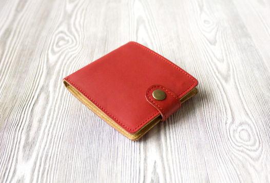 """Красное женское портмоне  из натуральной кожи """"Алые паруса"""""""