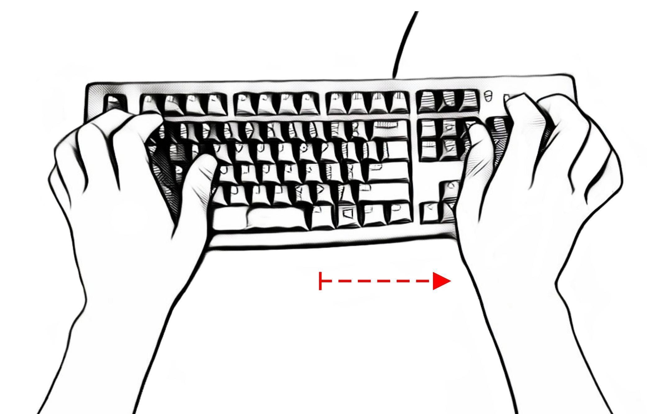 standard keyboard numpad