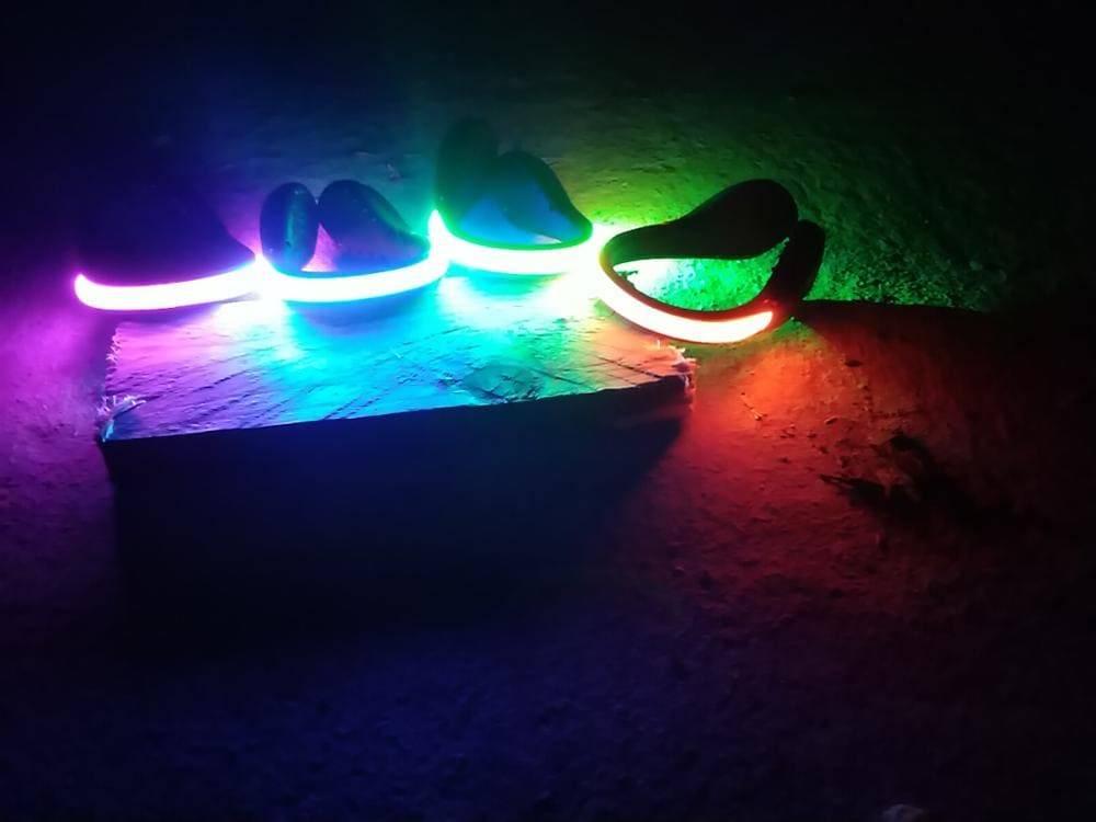 eclairage trottinette chaussure fluorescent