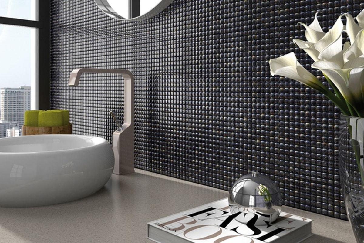 097457M - Pearl Ash-Antracita Glass Tile