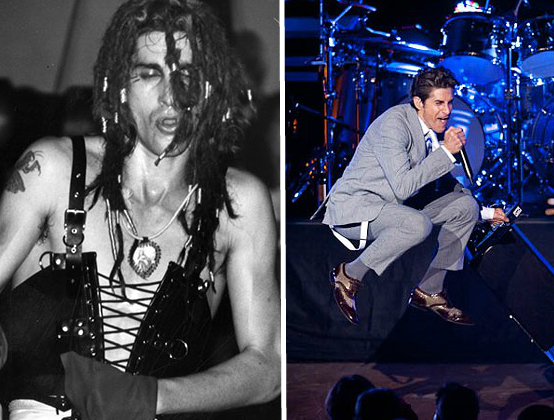 Jane's Addiction's lead singer Perry Farrell at The Ford in 1989 and 2011 <br> Photo courtesy of LAPL &amp; Timothy Norris