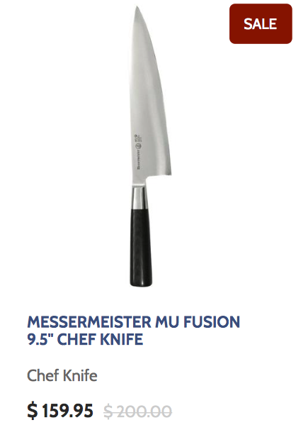 Messermeister Mu Fusion 9.5 Inch Chef Knife