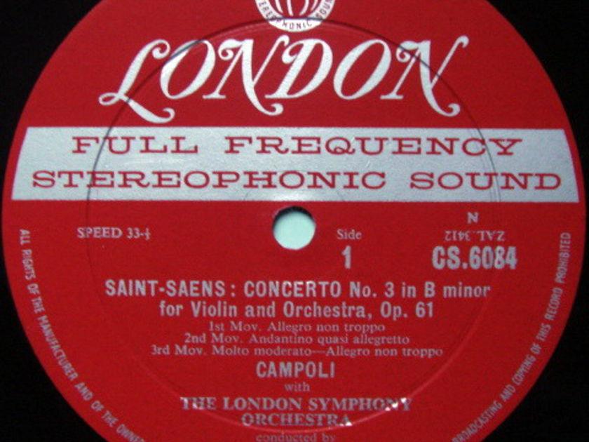 ★1st Press★ LONDON-DECCA FFSS-WB-BB / CAMPOLI, - Paganini-Saint-Saens Violin Concertos, NM-!