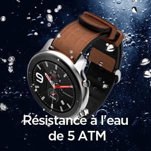 Amazfit GTR 47 mm - Résistance à l'eau de 5 ATM