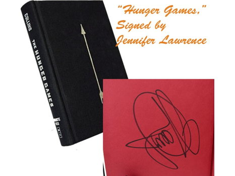 """Limited Edition """"The Hunger Games"""" Book Signed by Jennifer Lawrence"""