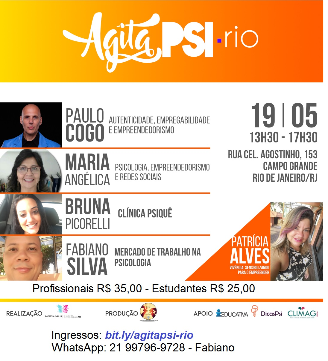 AgitaPsi-RIO – Uma tarde de educação empreendedora para Psicólogos e estudantes Psi