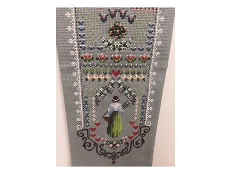 Hand Cross Stitch Panel