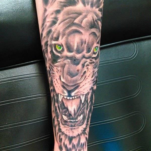 Tatouage Lion Avant Bras Imperméable